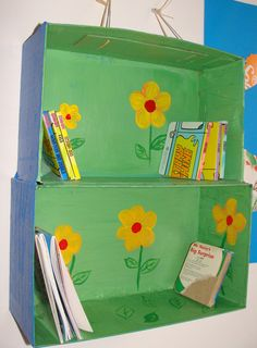 Hanging cardboard shelves - Support green environment, use recycle paper box to printing your style.