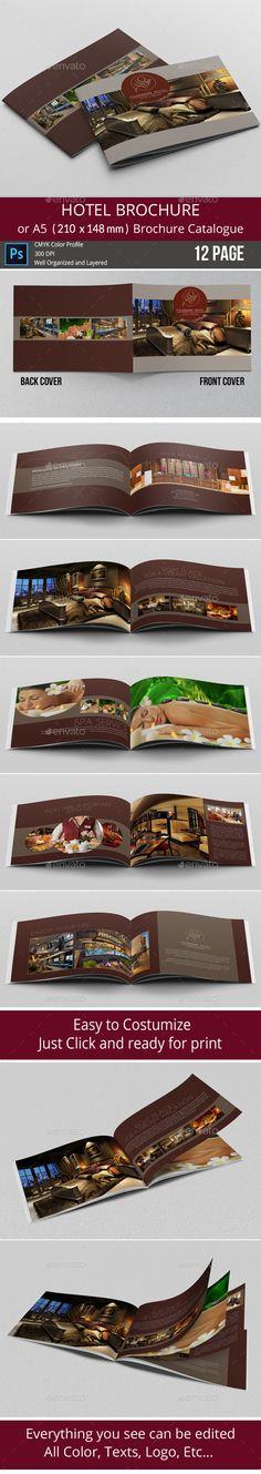 Professional Hotel Brochure Template  Hotel Brochures