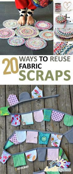 How to Reuse Fabric Scraps, Things to Do With Fabric Scraps, Fabric Scrap Crafts, Easy Sewing Projects, Simple Sewing Projects, Quick Sewing Projects, Repurpose Fabric Scraps, Popular Pin. | Uncommon Gifts Unique
