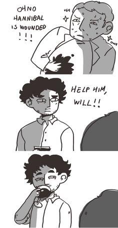 Hannibal fan art. Source: insertdisc5.tumblr