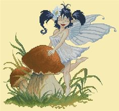 Fairy Posing with Mushroom by Pascal Moguerou