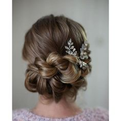 86 Beautiful and Easy Wedding Hairstyle for Long Hair VISCA WEDDING ❤ liked on Polyvore featuring beauty products, haircare, hair styling tools, hair and curly hair care
