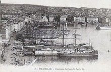 Marseille - Panorama du Quai du Port (carte postale ancienne)