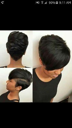 Short Hairstyle for Black Hair hair … - Short Hair Short Black Hairstyles, Girl Hairstyles, Wedding Hairstyles, African Hairstyles, Weave Hairstyles, Hairstyles 2016, Hairstyles Pictures, Pretty Hairstyles, Tapered Hairstyles