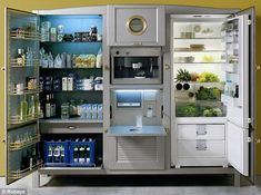 Top-of-the-range: The Meneghini La Cambusa cooling unit costs more than the average kitchen at $41,500
