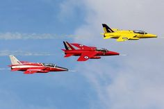 Trio of gnats Folland Gnat, Wings Etc, Raf Red Arrows, The Spitfires, Air Planes, Royal Navy, Military Aircraft, Fighter Jets, Aviation