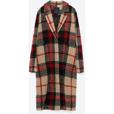 CHECK COAT - NEW IN-WOMAN | ZARA United States (€115) ❤ liked on Polyvore featuring outerwear, coats, checked coat and checkered coat