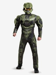 Save Earth from the Didact's attack in our Halo Adult Master Chief Muscle Costume Deluxe! Adult costume includes a Master Chief uniform muscle jumpsuit and Halo helmet. Buy Costumes, Dress Up Costumes, Costume Shop, Adult Costumes, Halloween Costumes, Male Costumes, Awesome Costumes, Halloween Makeup, Master Chief Costume