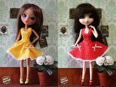 Pullip Pin Up Dresses por DollyBoutiquee en Etsy