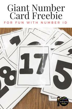 Giant Number Card Fr