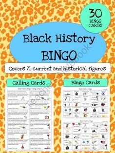 Black History Month Bingo product from Jasons-Classroom on TeachersNotebook.com