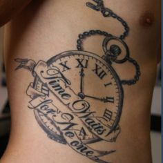 lost time is never found | Tatuagens na mão para homens ... |Lost Time Tattoo Ideas
