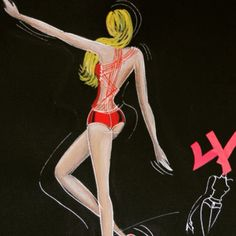 Fashion illustration. Inspired by number 4