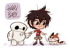 Big Hero 6 _ Chibi Baymax, Hiro kiddo, Hairy baby by princekido.deviantart.com on @deviantART