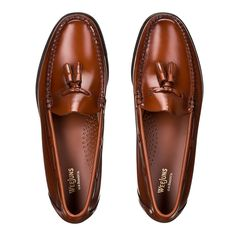 db12ab3f935 Weejuns Larkin Tassel Loafers Mid Brown Leather Slip On Shoes