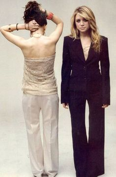 I wish I looked that good in a pant suit!