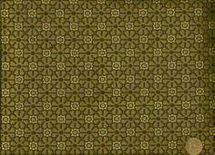 Mid Century Modern Retro Funky Mini Floral Green Aqua Cream Upholstery Fabric