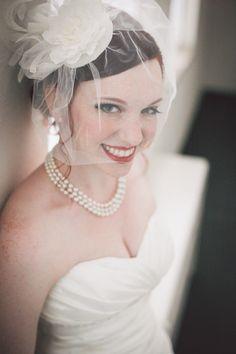 birdcage veil http://trendybride.net/elks-lodge-newark-ohio-real-wedding/