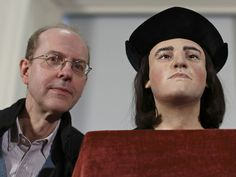 This is Michael Ibsen, a Canadian carpenter living in England and the 17th generation descendant of King Richard III sister. His unusual DNA matches the King's therefore it is been proved beyond doubt that the skeleton found in a Leicester car park is King Richard III. The model was made from the skeleton found and bears a remarkable resemblance to the King, so does Michael come to that!