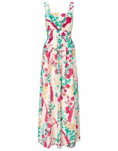 Pandora print maxi dress