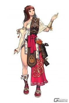i like the Female character's clothing design which is designed very details.