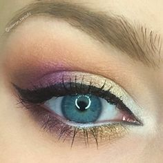 Created this eyeshadow look with the #peanutbutterandjelly palette from @toofaced . I used the shades, peanut butter (crease), extra creamy (inner corner), jelly (upper and lower lid), bananas (upper and lower lid), jammin (outer v). #motd #makeuplooks #pbjpalette