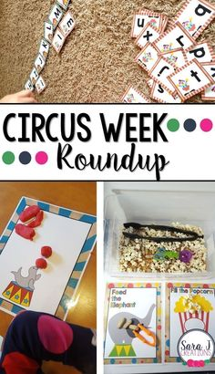 Books, fine motor, gross motor and alphabet practice ideas with a circus theme. Perfect for preschool! Circus Crafts Preschool, Preschool Summer Camp, Preschool Lesson Plans, Preschool Classroom, Preschool Printables, Preschool Curriculum, Preschool Ideas, Teaching Ideas, Carnival Activities