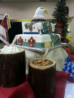 Eagle Scout cake and display
