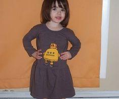 Make a toddler dress from a t-shirt.
