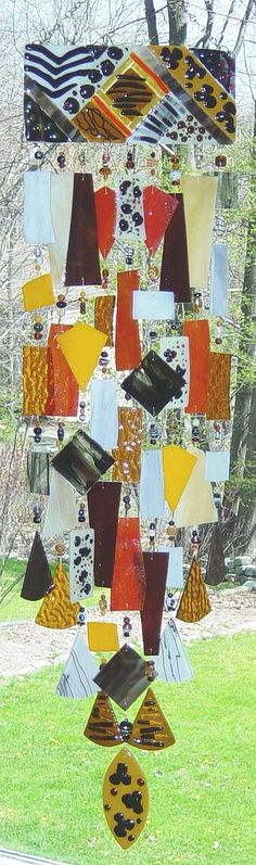 Out of Africa ~ Kirk's Glass Art fused and stained glass windchimes