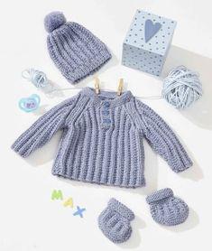 Baby-Set Junge stricken