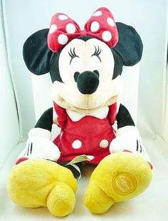 """Mickey Mouse Clubhouse 19"""" Minnie Mouse Plush Stuffed Toy #Disney"""