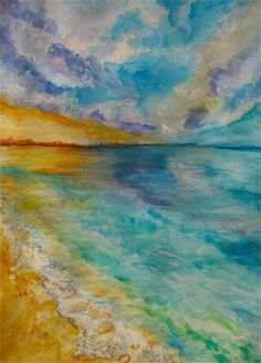 original water color painting of a sunset on by ShariBsPaintings, $35.00