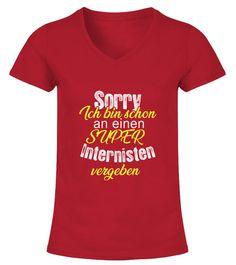 3667bb1dd4a2e8 Sorry ich bin schon an einen super Internisten vergeben - V-Ausschnitt T- Shirt