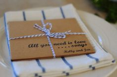 Blue & ivory invitation