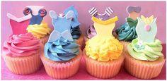 Cupcakes de princesas da Disney