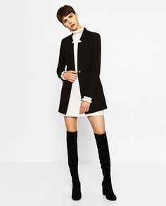 Image 1 of CREPE FROCK COAT from Zara
