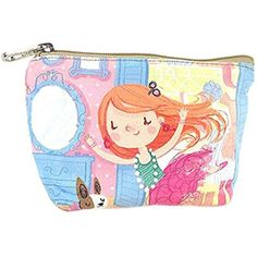 Adorable Little Girl Canvas Cosmetic Bags/Purse -- More info could be found at the image url. (This is an affiliate link) #CosmeticBags