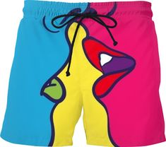 Roost 66 Mens design Swim Shorts. Man Swimming, Swim Shorts, Pop Art, Swimwear, Men, Clothes, Design, Fashion, Bathing Suits