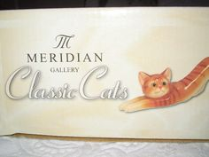 Meridian Classic cats Ginger Cat ornament boxed | eBay