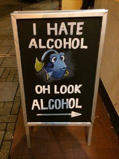 Funny pub chalkboard.