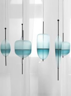Murano glass pendant lamp FLOW T by GALLERY S.BENSIMON |Design Nao Tamura