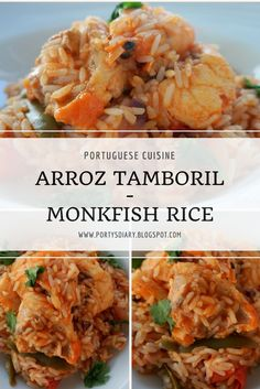 Monkfish Rice | Arroz de Tamboril   In need of meal inspiration? Or want to try something new? Here's a simple and easy Portuguese meal for you!  Monkfish Rice | Arroz de Tamboril.  Hope you like it!