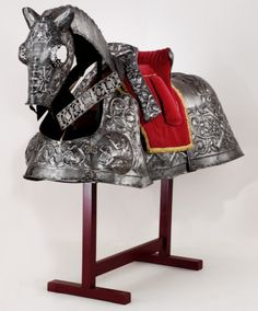Horse armour of King Henry VIII (known as the Burgundian Bard). Flemish, about 1511-15. Part of an armour presented by the Holy Roman Emperor, Maximilian I, to Henry VIII to mark his marriage to Katherine of Aragon. Made by Guille Margot and decorated by Paul van Vrelant