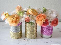 centrotavola glitter DIY