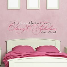 Buy Get FREE Teen Girl Wall Decal Or Tween Coco By KidsCorner - Wall decals quotes for teenagers