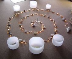 Healing vibrations of crystal therapy.