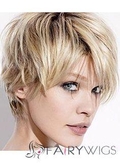 Sale Wigs Short Blonde Female Wavy Vogue Wigs