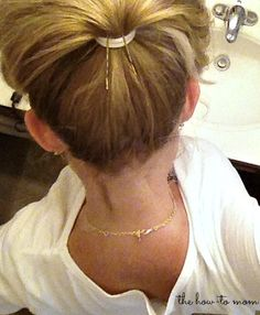 For a poofy ponytail! 2 bobby pins!