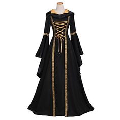 CosplayDiy Womens Sarah Black Renaissance Victorian Dress Costume M * To view further for this item, visit the image link-affiliate link.